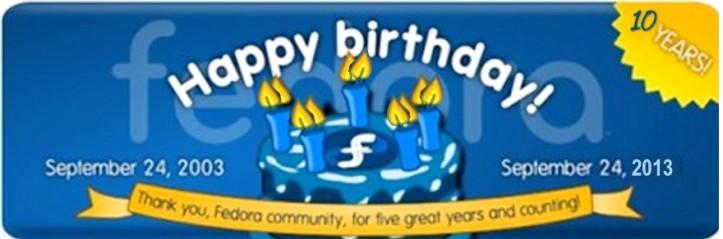 10th Happy Birthday Fedora